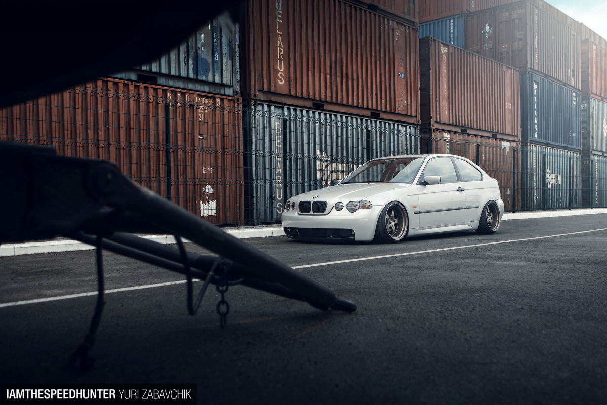 A Slammed BMW Compact From Belarus