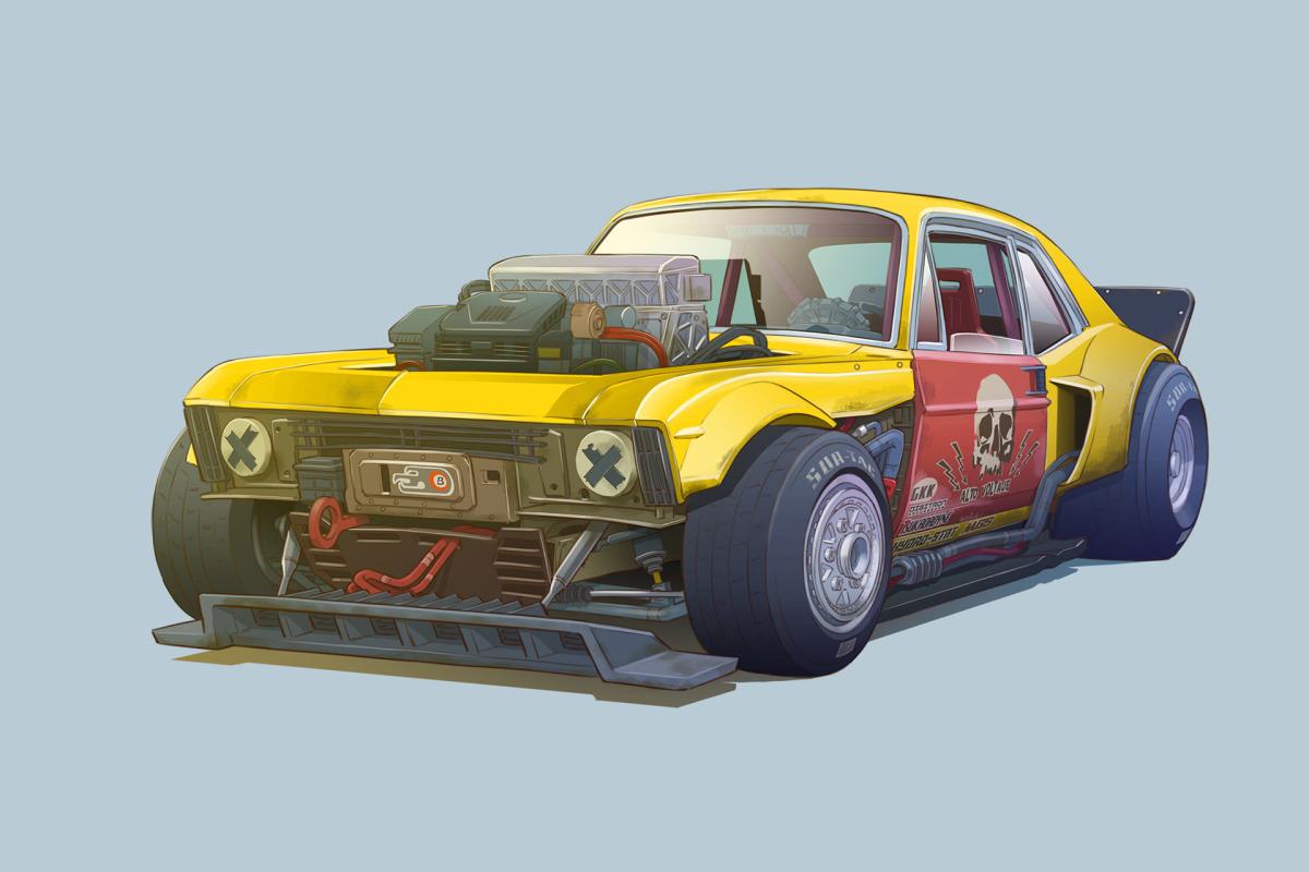 Cars As Characters: The Art Of DamonMoran