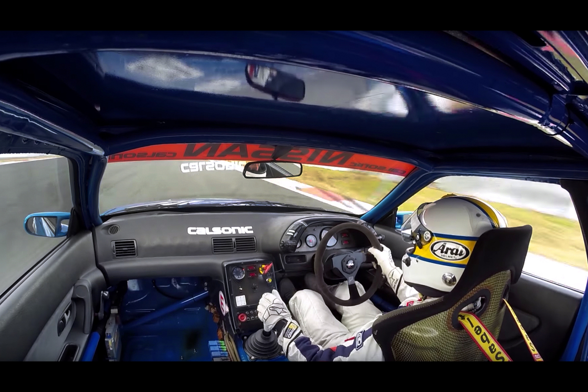 Onboard The Calsonic R32 Skyline GT-R