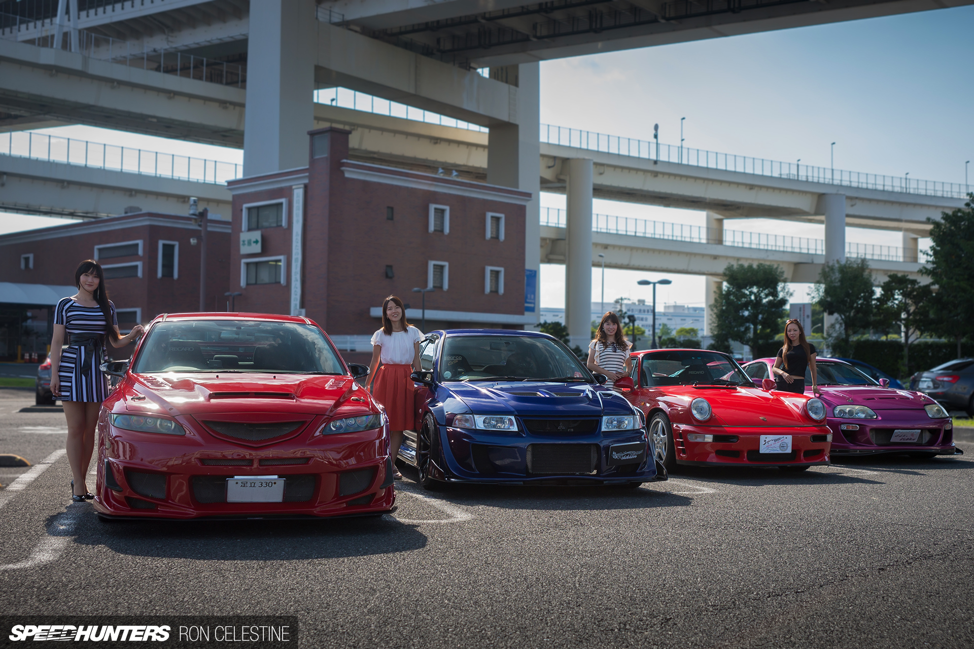 Meeting The Tokyo Girls Car Collection Group