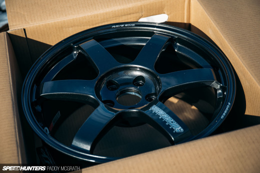 2018 Project GTI Volk Racing TE37 Saga Unboxing Speedhunters by Paddy McGrath-21