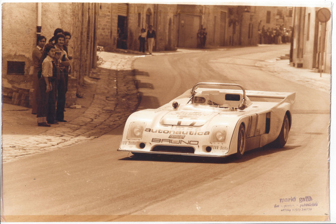 1977 Chevron B-36 original photos  at Targa Florio
