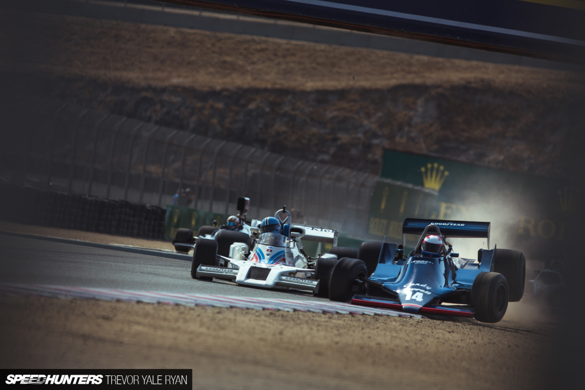 Saturday At Laguna Seca: A Formula 1 Incident & A Le Mans Winner