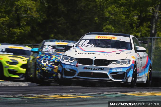BMW M4 GT4 BMWSF VIR Henry Schmitt Pirelli World Challenge GTS