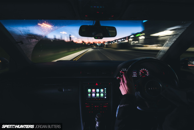 Project RS4 Kenwood CarPlay SPeedhunters by Jordan Butters-