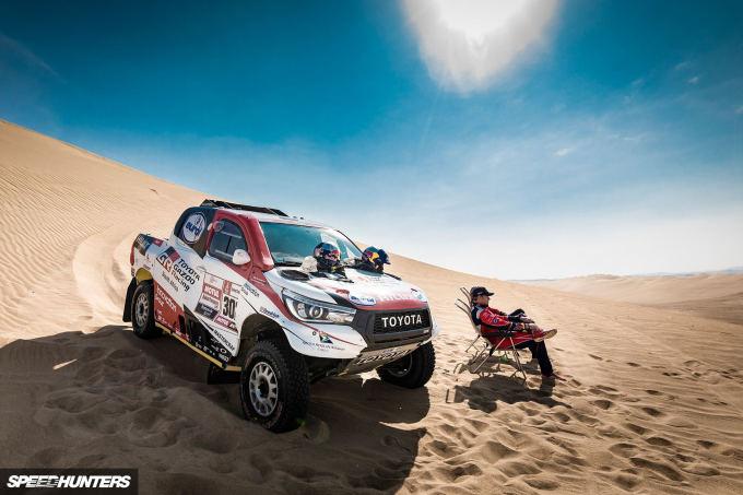 Giniel de Villiers (ZAF) and Dirk Von Zitzewitz (DEU) of Toyota Gazoo Racing SA