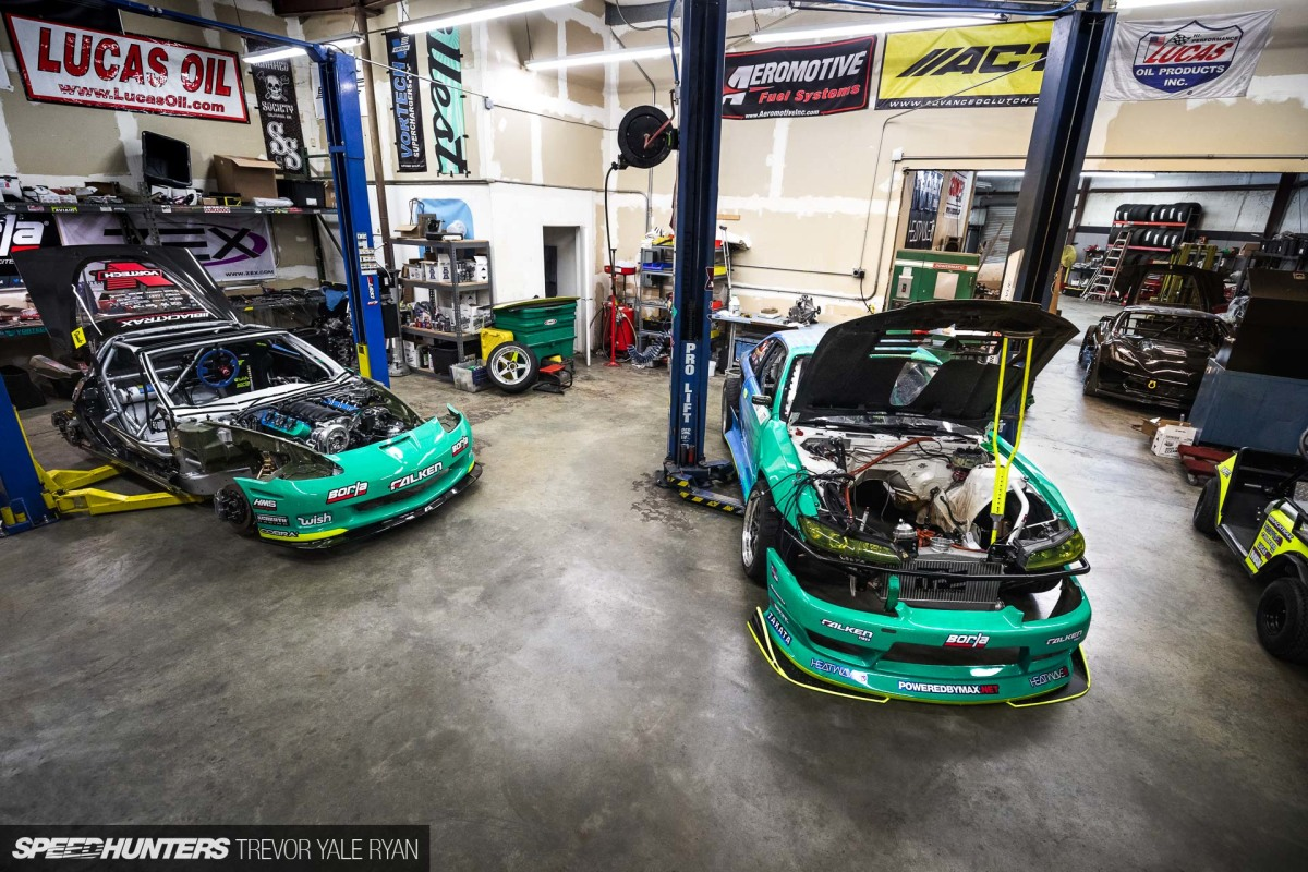 Formula Drift Prep At Matt Field's Drift Cave