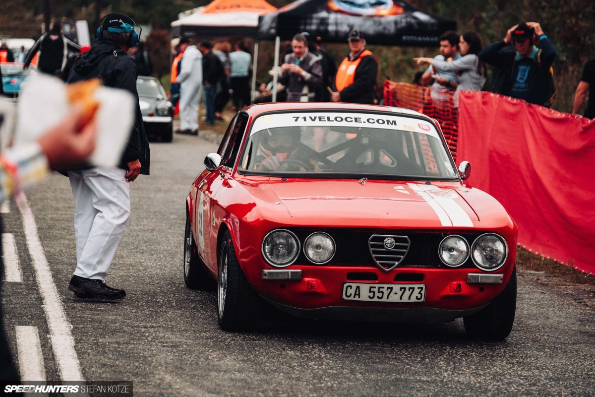 Classic Car Racing At The Jaguar Simola Hillclimb: The Pit Lane