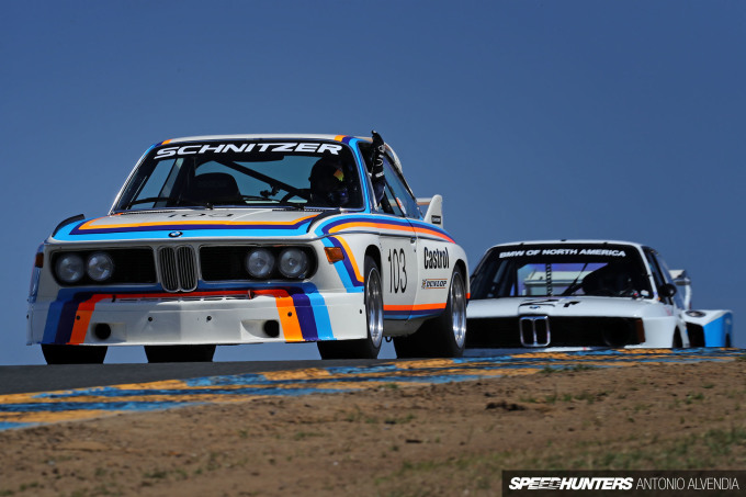 Sonoma Speed Festival BMW E9 Schnitzer Batmobile E21 320 turbo