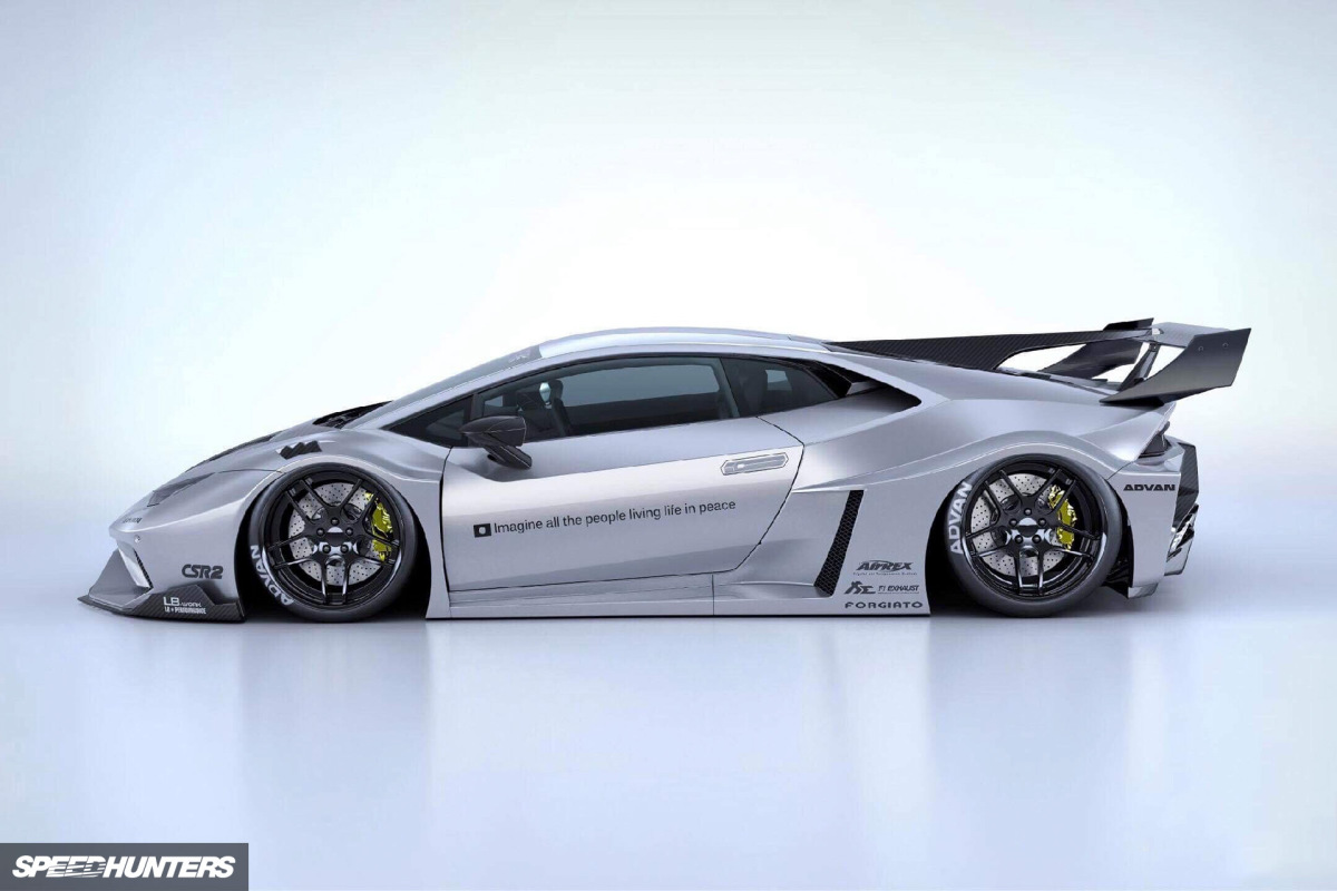 Without Rivets: The New LB-Silhouette WORKS GT Huracán