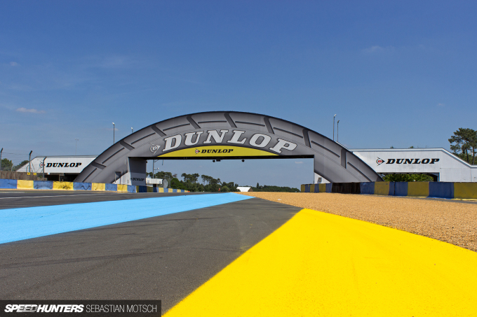 Dunlop Bridge at Le Mans 24h in France by Sebastian Motsch