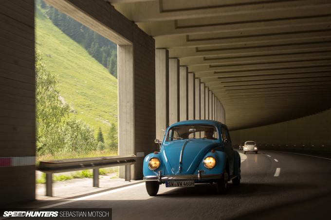 Volkswagen Beetle at Felbertauernpass Austria by Sebastian Motsch
