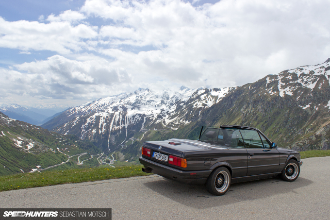 BMW E30 318is Cabrio at Furkapass Switzerland by Sebastian Motsch