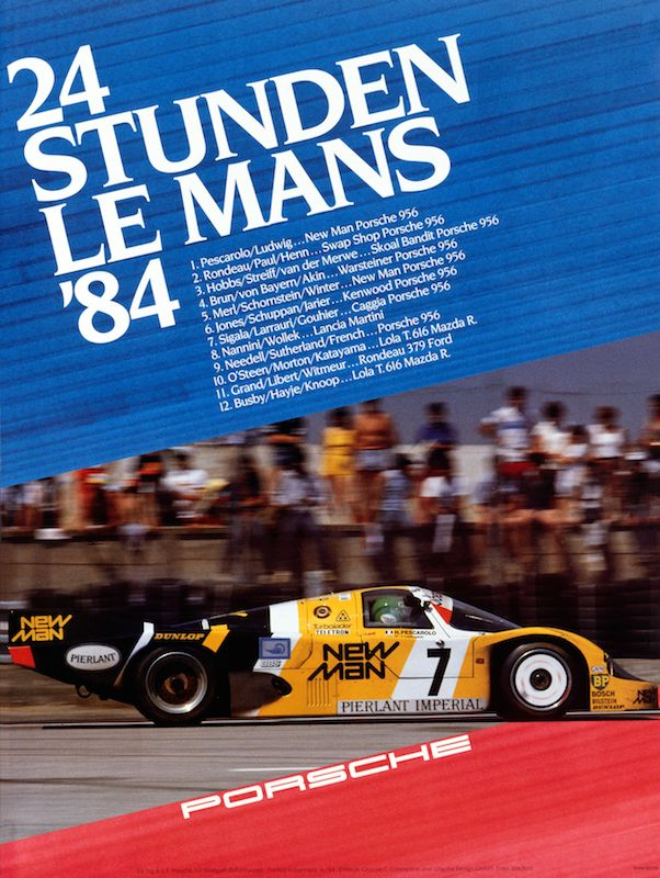 Historical poster Le Mans 1984