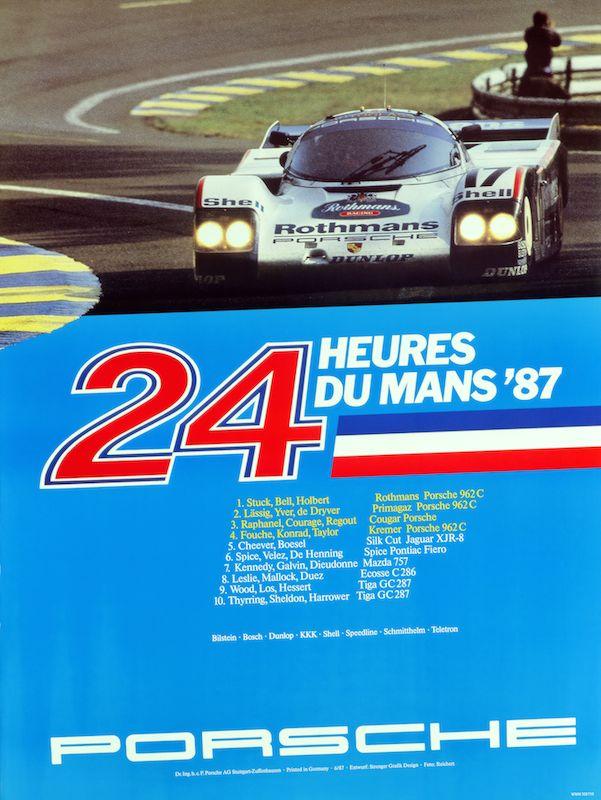 Historical poster Le Mans 1987