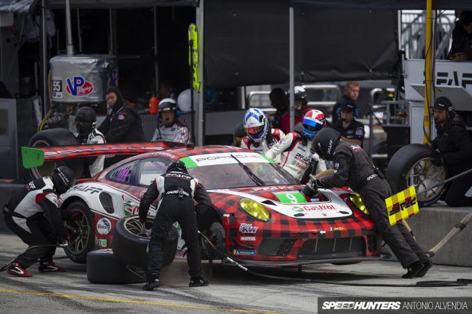 Pfaff Racing Porsche Pit Stop IMSA Laguna Seca