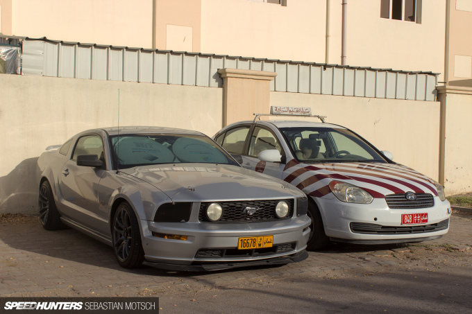 Speedhunters Ford Mustang and Hyundai Accent Driving School Car in Oman by Sebastian Motsch