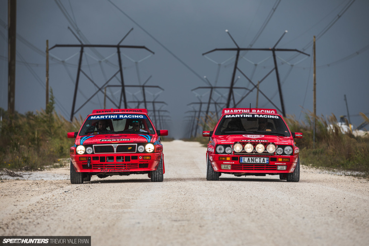 Two Lancia Delta Integrales Meet The Miami Rain