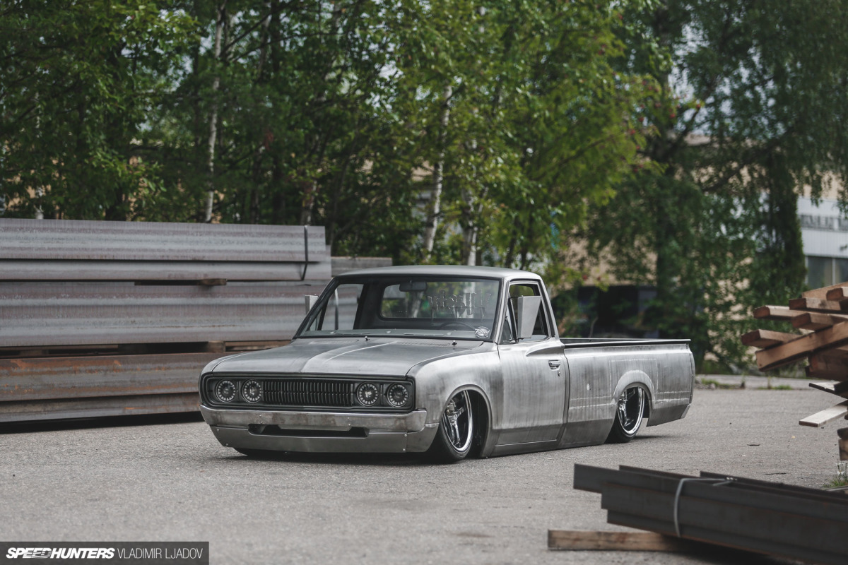 No Paint, No Problem: A Heavy Metal Datsun 620 Pickup