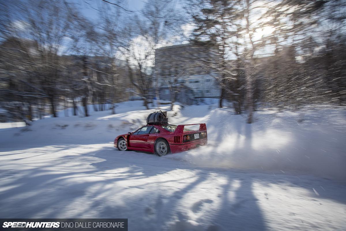 Remember That Ferrari F40 In TheSnow?