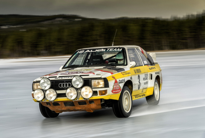 Stig Blomqvist, Rallye-world champion 1984, in Sport quattro Ral