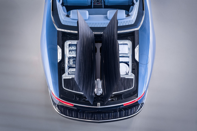 Rolls-Royce Boat Tail in Goodwood Hosting Suite rear aerial