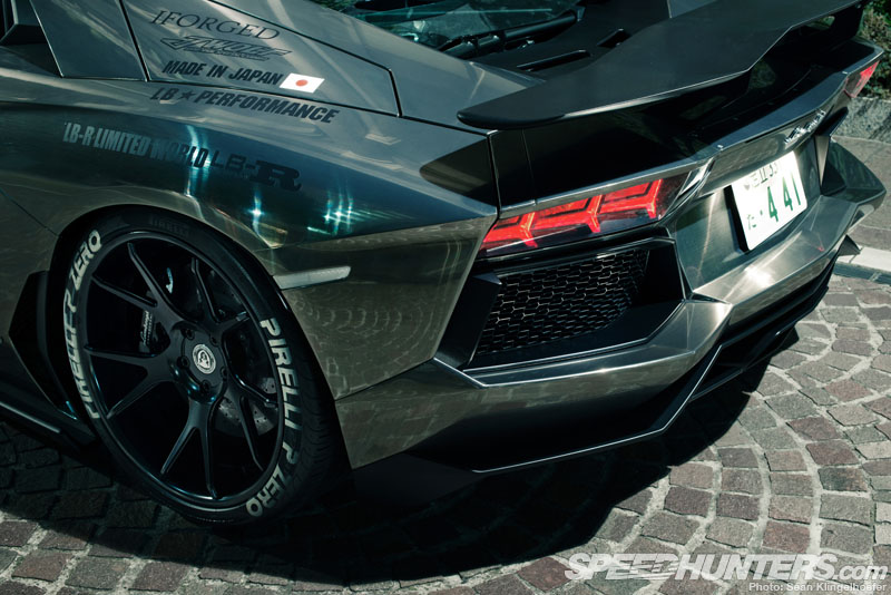 white letter low profile tires liberty walk a vent a door insanity speedhunters 25639 | LB Aventador 06