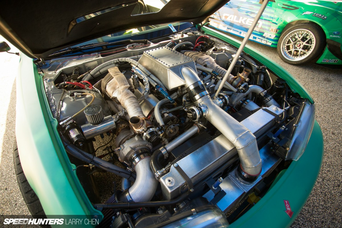 Pick Your Weapon The Engine Bays Of Formula Drift Speedhunters 5 7 Hemi Parts Schematic Larry Chen Engines