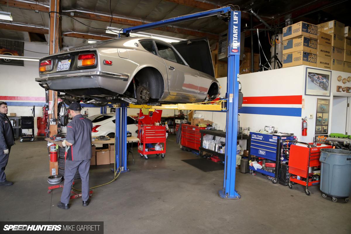 Car Garage With Workshop Area