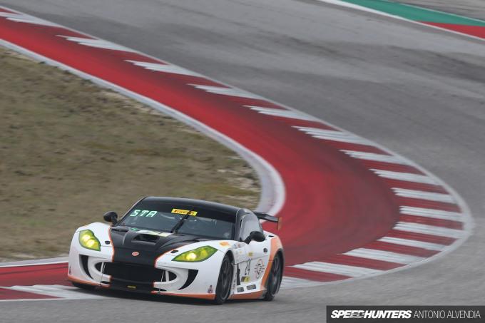 Ginetta GT4 Drew Staveley Blancpain GT Challenge COTA